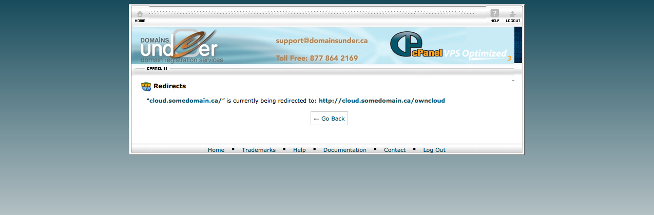 owncloud redirect success